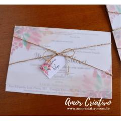 Convite de Casamento Primavera
