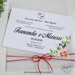 Convite de Casamento Roseiras