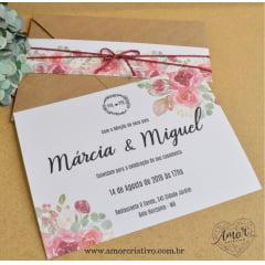 Convite Floral Marsala