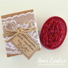 Lembrancinhas de Casamento Rustico - Sabonete Floral